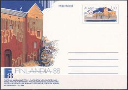 ALAND 1988 POSTKARTE GANZSACHE POSTKORT Ungelaufen - Ålandinseln