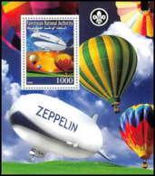 2177/ Bloc Neuf ** MNH Tirage Privé Vignette Zeppelin Scout (scouting - Jamboree) - Zeppelins