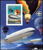 2178 Bloc Neuf ** MNH Tirage Privé Vignette Non Dentelé ** (imperforate) Zeppelin Scout (scouting - Jamboree) - Bénin – Dahomey (1960-...)