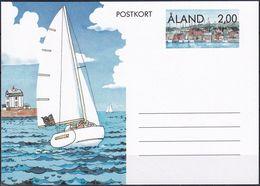 ALAND 1990 POSTKARTE GANZSACHE POSTKORT Ungelaufen - Ålandinseln