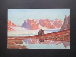 DR 1930 Künstlerkarte Marinemaler R. Schmidt - Hamburg Nordlandfahrten Spitzbergen Magdalenenbucht Spitzbergenexpedition - Deutschland