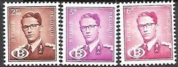 Belgium  1958   Sc#O59, O60, O63  3 Better Officials  MNH  2016 Scott Value $35.50 - Belgique