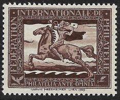 4105r: Vignette Ludwig Hesshaimer 1929, Pferd- Postreiter- Braun, Selten - Deutschland