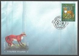 Latvia - Animals Of Latvia - Red Fox (Vulpes Vulpes), FDC, 2007 - Hunde