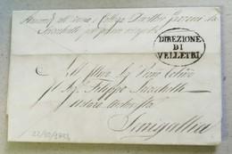Prefilatelica Velletri-Senigallia - 22/10/1854 Con Testo - Italia