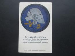 DR 1919 Künstlerkarte Kriegswahrzeichen Genagelt Zum Besten Des Jugenddanks Für Kriegsbeschädigte Knabenmittelschule - Briefe U. Dokumente