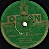 78 Tours - état TB - LINA MARGY -  LE RETOUR DES CIGOGNES - COEUR D'OISEAU - 78 T - Disques Pour Gramophone