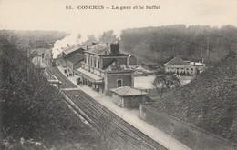 CARTE POSTALE  CONCHES 27  La Gare Et Le Buffet - Conches-en-Ouche