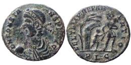 Constans Ae Maiorina - FEL TEMP REPARATIO - Empereur Et Captif - Lyon (8689) - 7. The Christian Empire (307 AD To 363 AD)