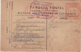 ESPAGNE : GUERRE . CP . DES MILICES ANTIFACHISTES . DE CATALOGNE . POUM , 1ere BATTERIE , 1er GROUPE D'ARTILLERIE . 1937 - 1931-50 Briefe U. Dokumente
