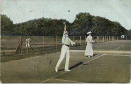 L170A026 - Joueurs De Tennis Des Années 1900. - Au Service - Série 391 - Tennis