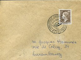 50376 Luxembourg, Circuled Cover With Special Posatmark Luxembourg Mouvement Europeen  23.5.1952 - Lussemburgo