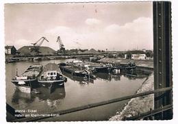 D-10377  WANNE - EICKEL : Hafen Am Rhein-Herne-Kanal ( Bateau, Ship, Boot) - Herne