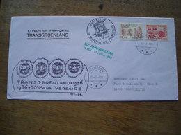 1986 50e Annivarsaire, Expédition Française Trans-groënland 1936 Avec Histoire - Postmarks
