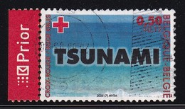 Belgium 2005, Red Cross, Tsunami Minr 3415 Vfu - Gebraucht