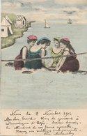 L170A029 - Jeunes Femmes Au Bain De Mer - Mélange De Photos Et De Dessin - Carte Précurseur N°350 - Women