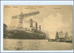 Y14001/ Hamburg Rosshafen Dampfer Imperator AK Ca.1920 - Steamers