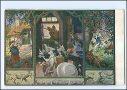 U5969/ Märchen AK Der Wolf Und Die Sieben Geißlein - Ca.1920 - Fairy Tales, Popular Stories & Legends