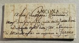 Prefilatelica Ancona-Fermo - 10/07/1849 Con Testo - 1. ...-1850 Prephilately