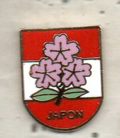 PIN'S RUGBY FEDERATION DU JAPON FLEUR CERISIER - Rugby