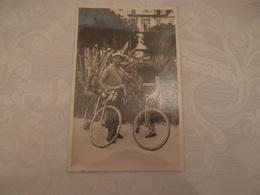 CPA Photo Cyclisme Cyclistes Les Alpes à Bicyclette Côte D'Azur 1938 - Ciclismo