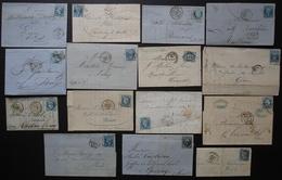 Lot De 15 Lettres Classiques, avec Correspondances, Voir Photos De Détail ! (Lot 2) - 1849-1876: Période Classique