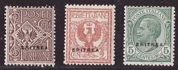 Eritrea, Tre Valori Soprastampati Del 1924 Nuovi **   -CK58 - Erythrée