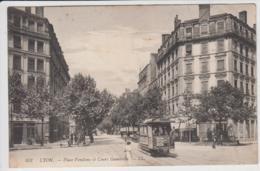 LYON PLACE VENDOME ET COURS GAMBETTA 1912 TBE - Lyon