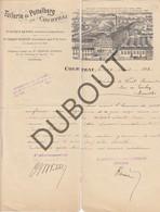 KORTRIJK - Factuur 1894 - Tuilerie De Pottelberg - Mooie Hoofding  (R585) - 1900 – 1949