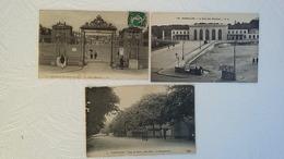 3 CPA - Versailles - La Gare Des Chantiers Et Camp De Satory - Une Allée- Les Baraquements - Chateau - Grille D'Honneur - Versailles (Château)