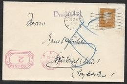 1930 Dt.Reich MiF DRUCKSACHE MASCHINEN HALB STPL X 2 - 5 NACHPORTO VERMERK GESTRICHEN - Deutschland