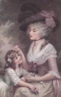 CPA 1920 - FEMME TYPE MARQUISE ET ENFANT - HEUREUSE ANNEE -SAVORY N°685 (lot Pat 96/1) - Mujeres