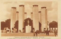 14030 - CPA PARIS. Expo. Inter. Des Ars Déco.1925 - L'Entrée  Place De La Concorde. - Mostre