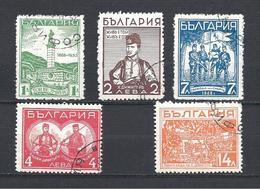 BULGARIE  Y & T N° 273/77 En L'honneur Du Révolutionnaire Dimitri Hadji - Gebruikt