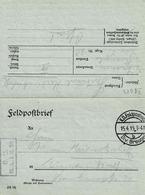 Courrier Sur Document Imprimé En Franchise ( Feldpostbrief) Avec Cachet Div Breugel - Covers & Documents