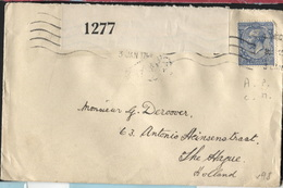 UK PERFIN - A.P./C.M. =cement Manufactory London On Cover 1917 + Censor Perfined Perforé Perforation (x98) - 1902-1951 (Kings)
