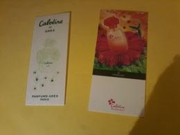 2   X Carte  Gres  Cabotine- + Chinois - Cartes Parfumées