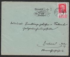 1927 Dt.Reich EF Mi. 391 Mit Unterrandstück - Maschinen Halbstpl BENUTZT DIE LUFTPOST - Deutschland