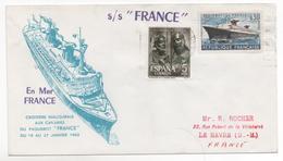 Paquebot FRANCE Croisiére Aux Canaries 1962 - Storia Postale