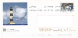 Enveloppe Illustrée, L'Ile D'Oléron 17, Le Phare De Chassiron - Marcofilia (sobres)