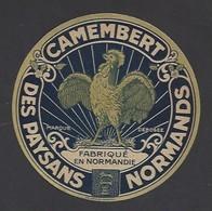 Etiquette  Fromage Camembert   -  Des Paysans Normands  - Fabriqué En Normandie  -  Thème Coq - Quesos