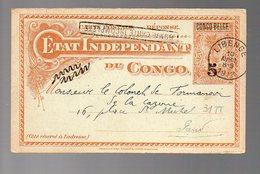 CONGO - EP STIBBE # 31 TT - BOMA CPI REPLY - LIBENGE 1913 - Non Voyagée / Non écrite - PAQ1 - Ganzsachen