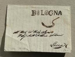 Prefilatelica Bologna-Lucca - 27/09/1833 Con Testo - Italia