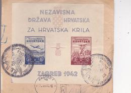 CROATIA  -  NDH  --   RECO BRIEF  --  PARCEL BRIEF  --  ZA HRVATSKA KRILA  --  1942 - Kroatien