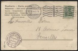 Flaggenstempel Düsseldorf + Kunst- Gartenbau Ausstellung 1904 Nach Belgien (x102) - Allemagne