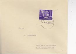 CROATIA  -  NDH  --   BRIEF  --  1942  --  ZAGREB Nach ZURICH,  SCHWEIZ - Kroatien