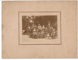 MONTPELLIER ( 34 ) - CHÂTEAU BON 1861 - PHOTOGRAPHIE ORIGINALE  - TRES RARE  - VOIR SCANS ( Texte Verso ) - Personnes Identifiées