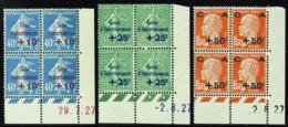 N° 246 /248  1ère Série Caisse D'amortissement 3 Vals 1927 Qualité:** Cote: 285 - ....-1929
