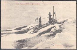 MARINE MILITAIRE Française     GYMNOTE   Sous-marin      CPA       Num 357    Postée à 83 TAMARIS S MER  Le 27 Juin 1905 - Manovre