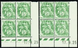 N° 111 5c Blanc 17-9-25 Les 2 Galvanos     Qualité:** Cote: 80 - 1900-29 Blanc